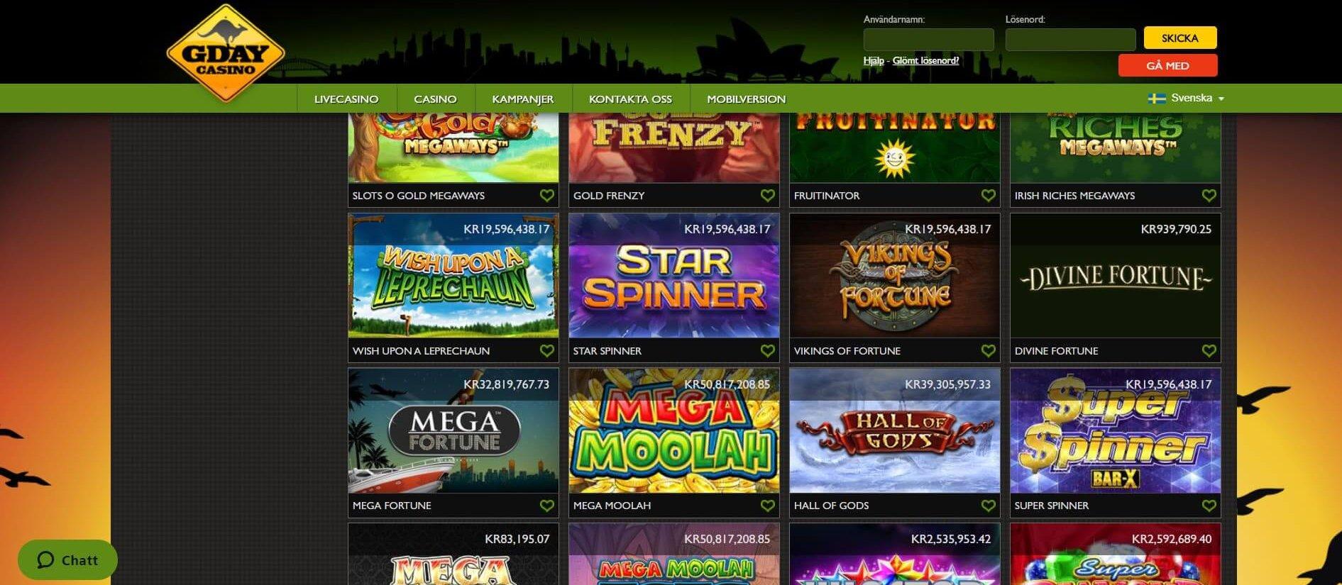 Casino med svenska dealers 84112