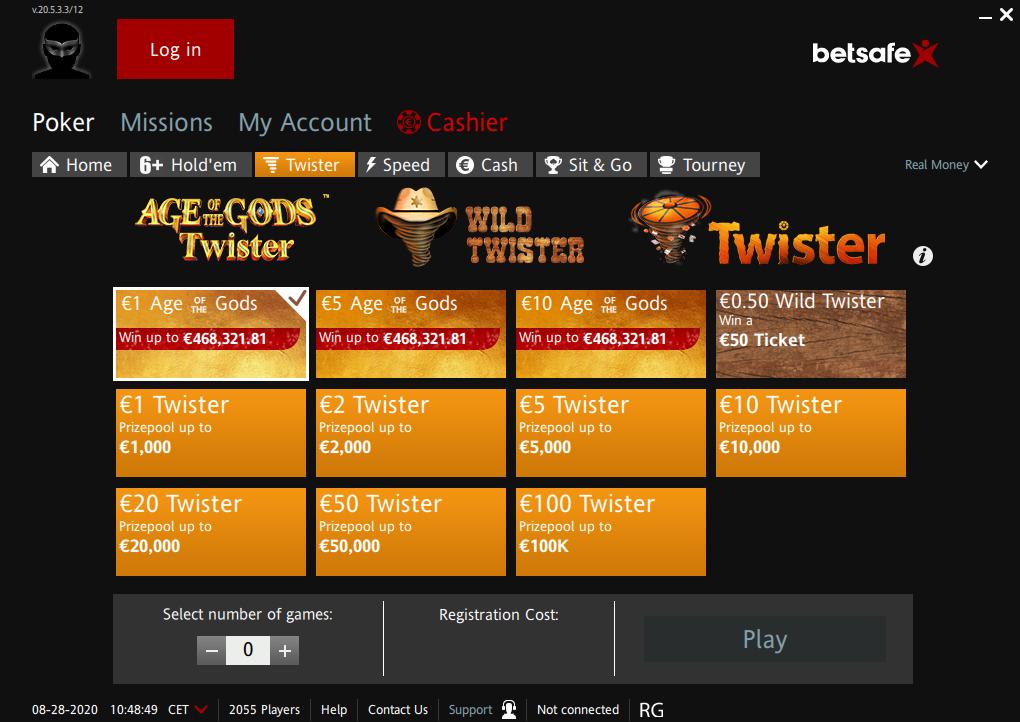 Betsafe poker odds 123209